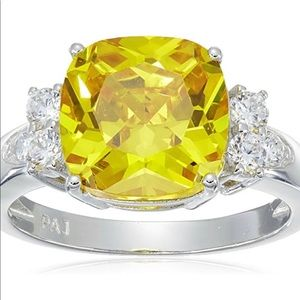 Jewelry - Platinum plated sterling silver Canary Ring